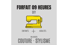 09 heures de coutures&stylisme (trois 1/2 journées)