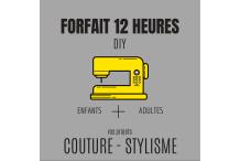 12 heures de couture&stylisme (quatre 1/2 journées)
