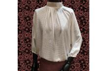 chemise fluide en voile de coton blanche