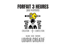 pour 4 enfants 7/13ANS - 03 heures Loisir créatif