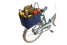 Panier vélo - bleu&noir