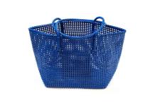 Panier plastique recyclé bleu
