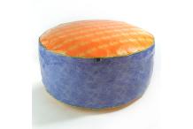 Pouf grande taille orange et violet