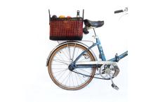 Panier vélo - rouge&noir