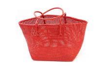 Panier plastique recyclé rouge