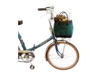 Panier vélo - vert&noir