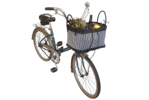 Panier vélo - blanc&noir