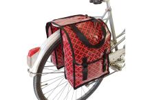 Sacoche vélo - double - rouge&noir