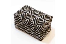 Trousse cube tissu -doré&noir